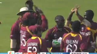 Bangladesh v West Indies Wickets Highlights World Cup 2011