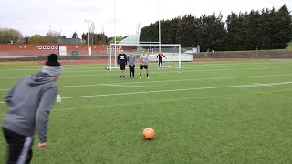 YOUTUBER FREE KICK CHALLENGE | IRL FOOTBALL VIDEO