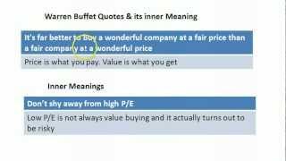Understanding Warren Buffet Quotes Its Inner Meaning Bse2nsecom