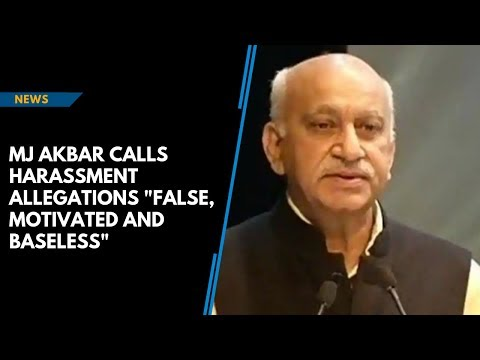 Xxx Mp4 MJ Akbar Calls Sexual Harassment Allegations False Motivated Baseless 3gp Sex