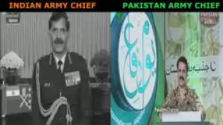 Pakistan Army Chief vs Indian Army Cheif   Voice of Pakistan