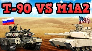 50 M1A2's Abrams versus 50 T-90 tanks! | WHO WILL WIN?