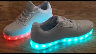 LED Light up Shoes SAGUARO(TM) 8 Colors LED Light-Up sneakers