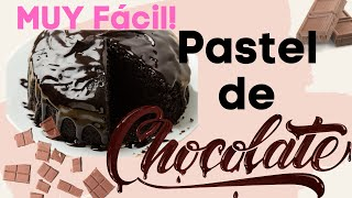 FÁCIL ~ PONQUE DE CHOCOLATE/ PASTEL DE CHOCOLATE