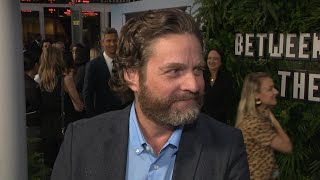 Watch Zach Galifianakis Chow Down on Cake During Between Two Ferns Interview