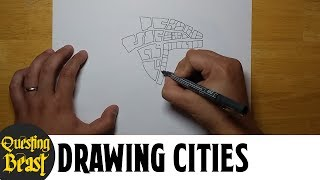 How to Draw Medieval Cities: Fantasy Mapmaking Tutorial for DnD
