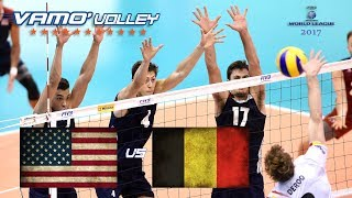 ALL BREAKS REMOVED - USA v Belgium - FIVB World League 2017 Pool Play