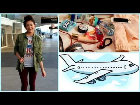 Airplane Traveling Hair Makeup Outfit My Carry on essentials