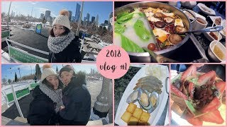 WHAT I EAT IN A DAY#1   All you can eat Hot Pot+ Crepe Dessert + Ice skating!   KEEMI★VLOG