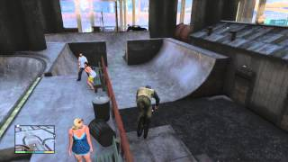 GTA V (GTA 5) Awesome Skatepark, BMX Tricks, Secret place, Gameplay, cool place to visit!