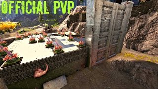 SWAMP CAVE Loot w/ Quetzal Hangar Build - Official PVP (E28) - ARK Survival