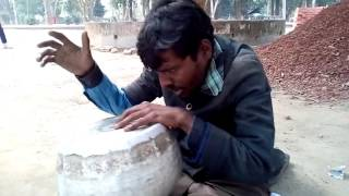 Rajib, a street singer from Rajshahi, Bangladesh.