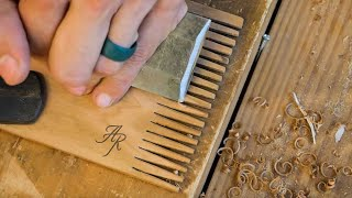 Making A Wooden Comb For My Daughter