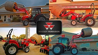 Massey Ferguson Compact & Utility Tractors Lifting Round Bale