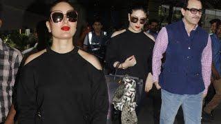 Kareena Kapoor Hot In Cold Shoulder Top With Saif Ali Khan At Airport