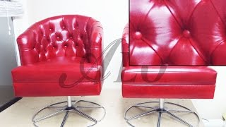 HOW TO REUPHOLSTER A TUFTED TUB CHAIR. CHARMAINE H. - ALO Upholstery