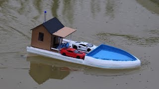 How to make a boat - houseboat - Build swimming pool