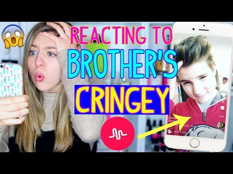 Reacting to My 12 Year Old Brother's CRINGEY Musical.lys!!