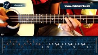 """Cómo tocar """"A Dios Le Pido"""" de Juanes en Guitarra Acústica (HD) Tutorial - Christianvib"""
