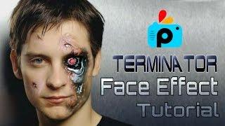 PicsArt Editing Tutorial 2016   How to Make Terminator Face   Best PicsArt Studio Editing