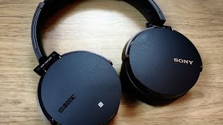 Sony MDR XB950BT Bluetooth Headphones Unboxing & Review