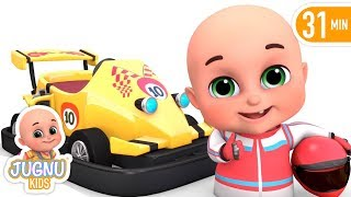 Go Kart Car Racing  - Kids Videos about Race Car toys - Kids playing videos by jugnu kids