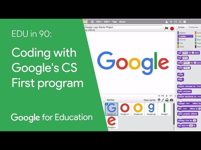 EDU in 90: Coding with Google's CS First program