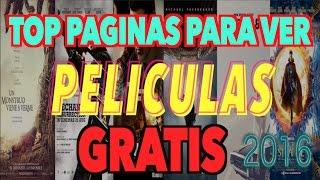 5 Páginas Para Ver Películas GRATIS en Internet  2016 | PELICULAS HD | PC, App iOS Android