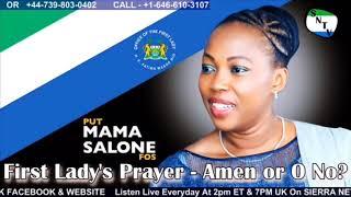 First Lady Fatima Bio's Prayer - Amen Or O No - Sierra Network
