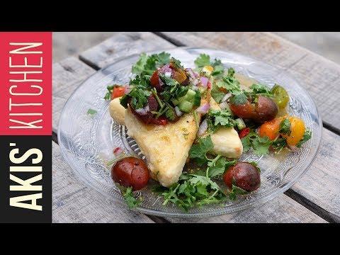 Xxx Mp4 Greek Saganaki With Cherry Tomato Salsa Akis Kitchen 3gp Sex