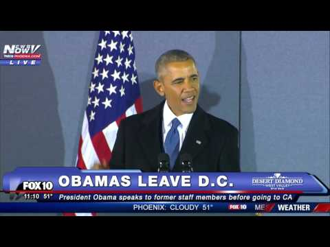 President Obama s FINAL Farewell Speech Speaks to Former Staff at Joint Base Andrews
