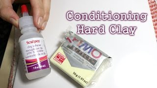 Tutorial: Conditioning Hard Polymer Clay (with or without softener)