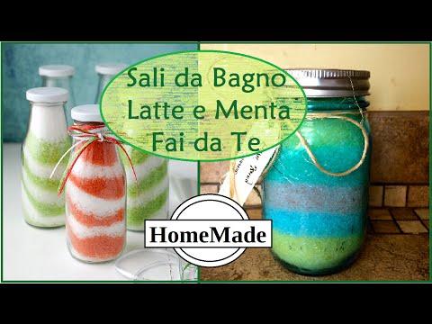 Sali da Bagno Latte e Mente Fai da Te - DIY Bath Salt - Milk&Mint