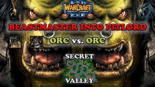 Grubby | Warcraft 3 The Frozen Throne | Orc v Orc - Beastmaster into Pitlord - Secret Valley