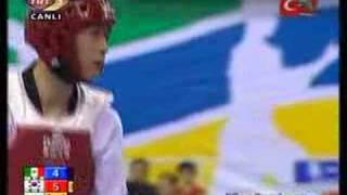 54kg SEMIFINAL -  (KOR) vs (MEX) (2007 world taekwondo championship)