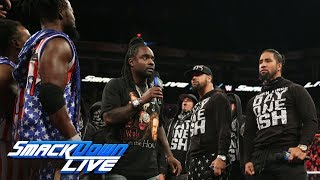 The New Day and The Usos square off in a Rap Battle hosted by Wale: SmackDown LIVE, July 4, 2017