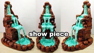How to make amazing fountain waterfall show piece