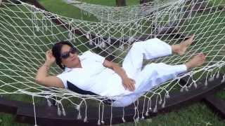 Aruna Sharma on Hammock swing, Hotel Europa Garden, Eforie Nord, Romania Jul 04, 2013