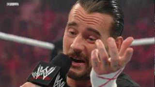Raw: CM Punk discusses his plans for Money in the Bank