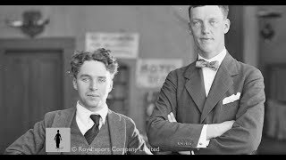 Charlie Chaplin and Prince Axel of Denmark - Rare Archival Footage