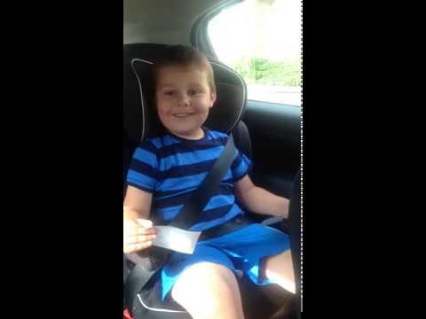 My 5yr olds reaction to becoming a big brother.