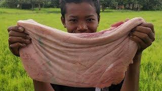 Easy Crispy Pork Belly Cooking / Eating Crispy Pork