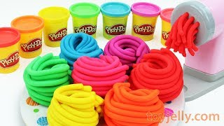 Learn Colors with Play Doh Pasta Spaghetti Making Machine Baby Toy Appliance and Surprise Kids Toys