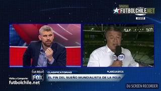 Periodistas chilenos se pelean en vivo por eliminacion chilena