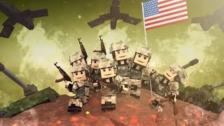 Minecraft | Good vs Evil - WORLD WAR 2: D-Day Invasion! (Allied Powers vs Axis Powers)