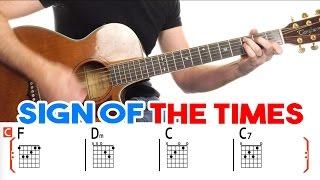Sign Of The Times | Harry Styles | Guitar Lesson - Easy How To Play Acoustic Songs - Chords Tutorial