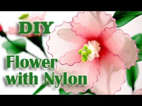 DIY Instruction Fabric Flower Handmade Nylon Hibiscus from New Sheer Creations