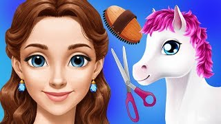 Fun Princess Pony Care - Gloria Horse Club Dress Up Clean Up Makeover Kids Apps