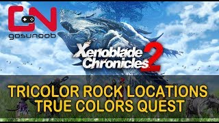 Xenoblade Chronicles 2 - Tricolor Rock Locations - True Colors Quest
