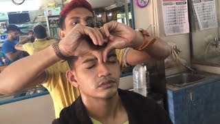 ASMR Indian Barber Head Massage With Neck Cracking By (Manish)